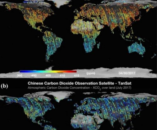 First global CO2 maps published using China's TanSat data