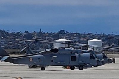 Indian navy receives its first two MH-60 helicopters