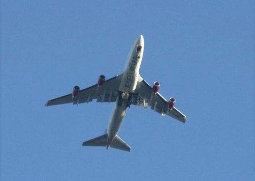 Virgin Atlantic flight from London to Las Vegas develops landing gear problem after takeoff