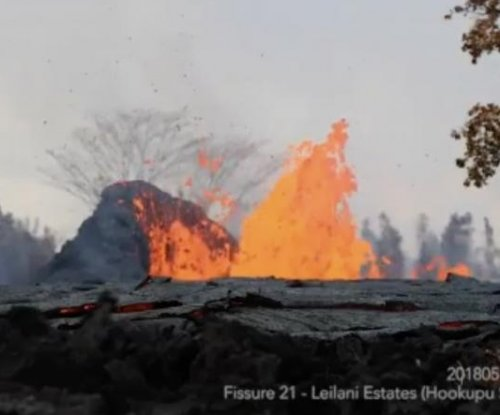 Hawaii volcano shoots lava 300 feet into air