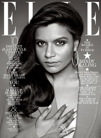 Mindy Kaling responds to Elle cover cropping controversy: 'Ya pervs!'