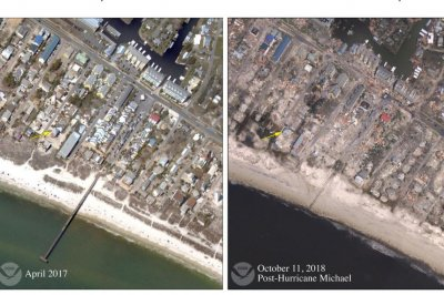 Satellite photos show Hurricane Michael's damage to Florida coast