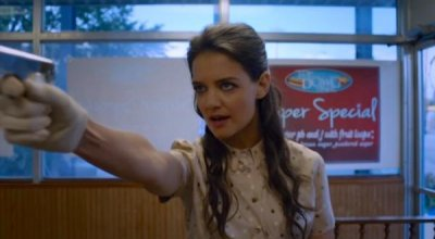 Katie Holmes plays vigilante in new 'Miss Meadows' trailer
