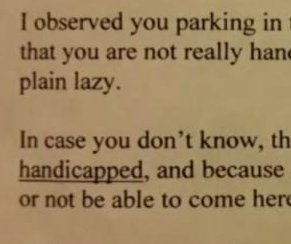 Mom who used disabled parking called 'idiot' by anonymous note