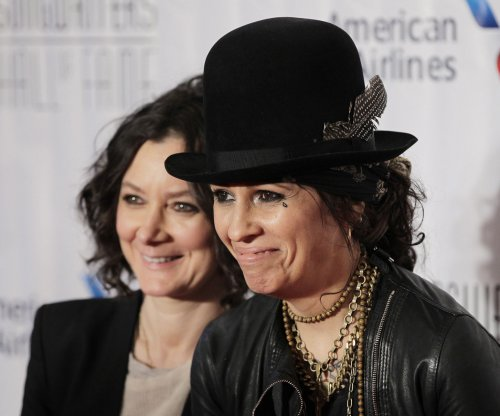 Sara Gilbert, wife Linda Perry bring son Rhodes to family event