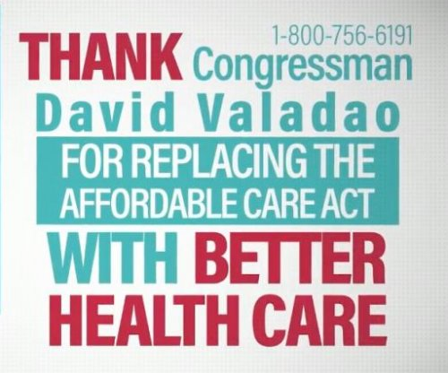 Conservative group goofs, runs ads celebrating Obamacare repeal