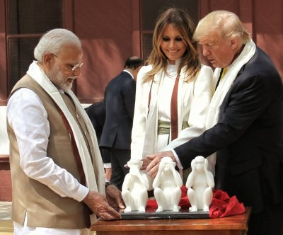 Trump wraps 1st day of India trip after jubilant party, visit to Taj Mahal