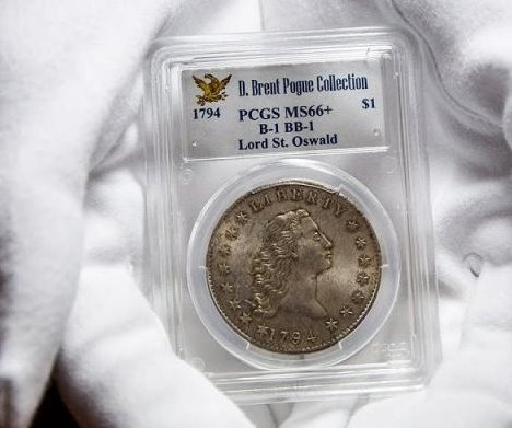 Rare silver dollar returns to auction block after selling for $10M