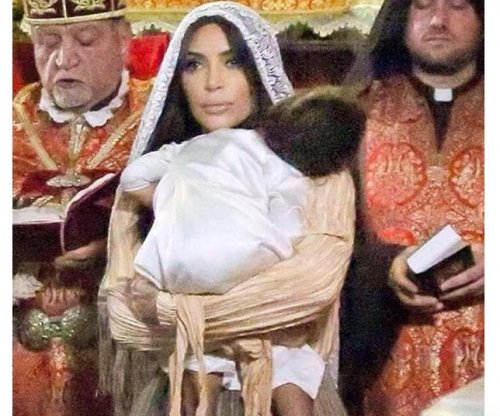 Kim Kardashian shares photos of North West's baptism