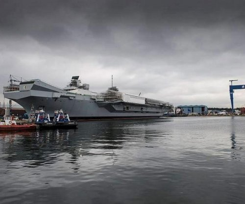Milestone achieved in construction of Royal Navy carrier
