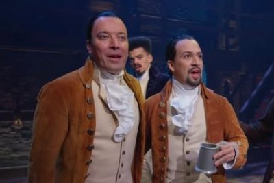 Jimmy Fallon sings with Lin-Manuel Miranda, 'Hamilton' cast