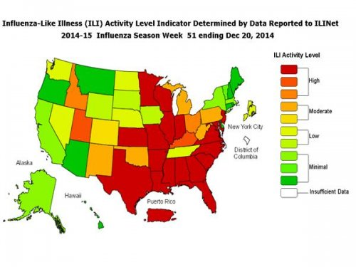 CDC: 15 children dead, America officially in midst of flu epidemic