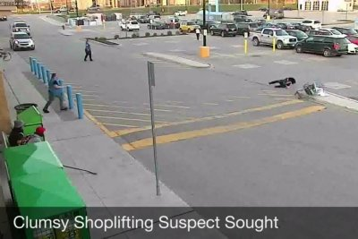 Police seek 'clumsy' shoplifter who crashed Walmart cart