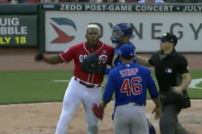 Yasiel Puig storms mound after getting plunked with pitch in Reds' loss