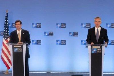 Esper visits NATO with assurance of U.S. commitment