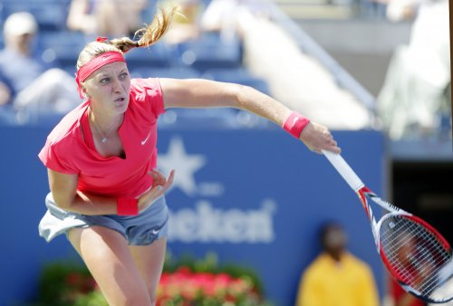 Kvitova earns upset win at WTA Championships