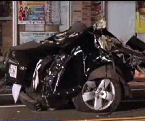 Florida crash splits stolen Prius in half, driver flees on foot