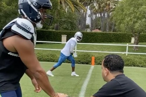 Antonio Brown catches passes from Russell Wilson amid links to Seahawks, Ravens