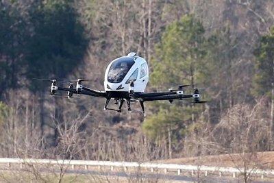 Flying taxi makes U.S. debut at North Carolina demonstration