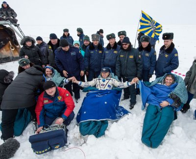 Three members of International Space Station crew return to Earth