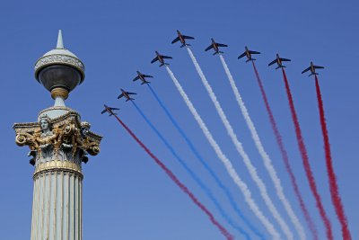On alert: France celebrates Bastille Day, eyes World Cup final