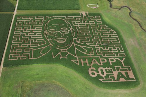 Al Roker's face featured in corn maze