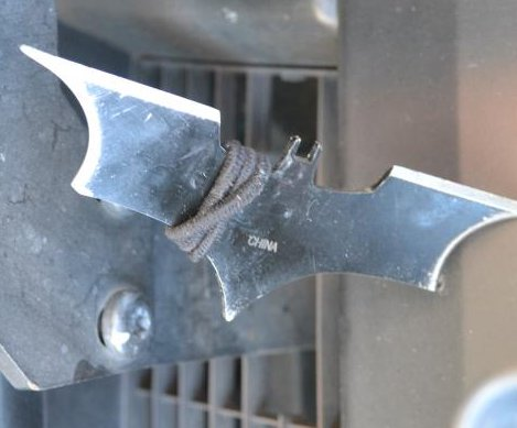 Police: Spear-wielding joker threw batarang at patrol vehicle