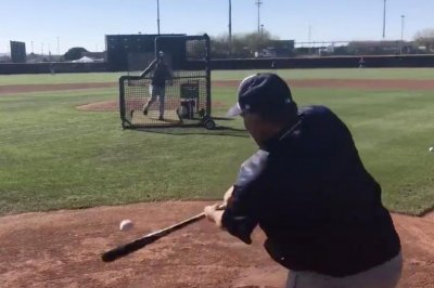 Matt Stairs: Former MLBer, Padres hitting coach clobbers spring training homer