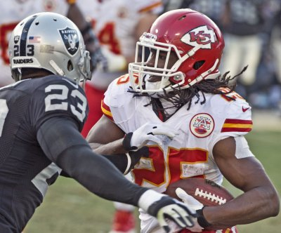 Kansas City Chiefs RB Jamaal Charles (knee) questionable for Sunday