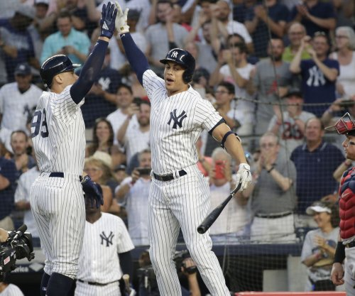 Aaron Judge: Marlins to Yankees transition was no problem for Giancarlo Stanton