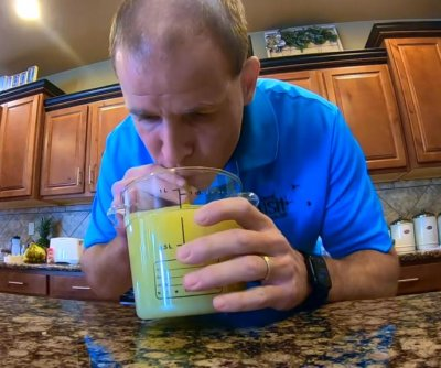 Man breaks his 150th Guinness record by drinking lime juice