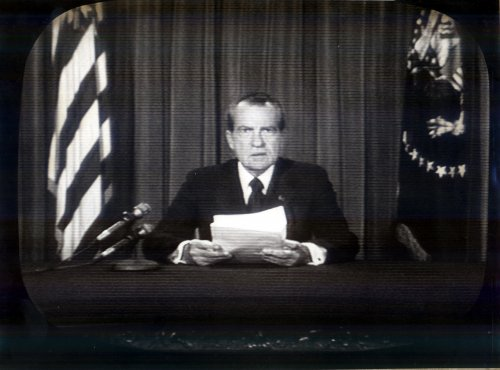 Nixon quits on TV tonight; Ford to take oath Friday