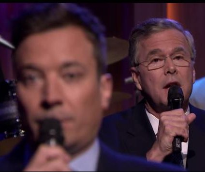 Jeb Bush 'slow jams' the news with Jimmy Fallon
