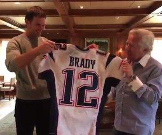 Going for two: Tom Brady has returned Super Bowl jerseys nearly snatched away again