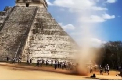 Watch:-Tourist-runs-through-whirlwind-at-pyramid-in-Mexico