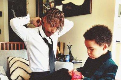 Wiz Khalifa takes son Sebastian to 2015 Grammys