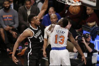 Brooklyn Nets control Kristaps Porzingis, New York Knicks