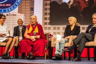Dalai Lama speaks to Lady Gaga: 'Hope is essential to keep the world going'