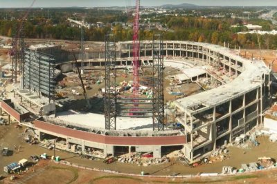 Time-lapse video shows construction of Braves' new stadium