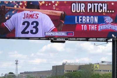 Phillies minor league squad trying to recruit LeBron James