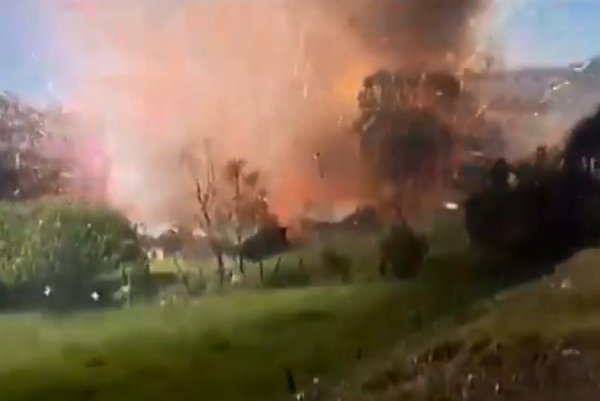 WATCH: Huge explosions as fireworks factory blows up in ...