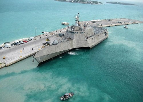 Austal USA launches fourth Independence-class LCS