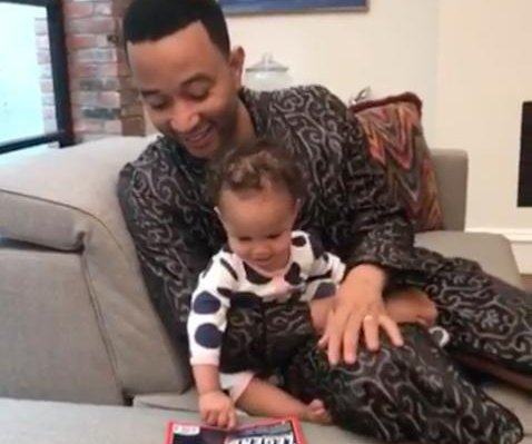 John Legend's daughter reacts to his TIME 100 cover: 'Da da!'