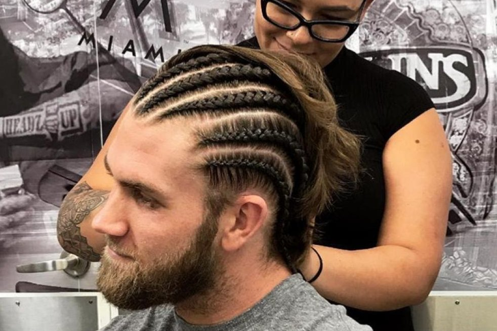 Look Washington Nationals Bryce Harper Transforms Flow To Cornrows Gets Mocked
