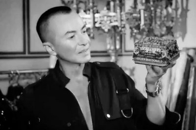Julien Macdonald designs jewel-encrusted McDonald's box