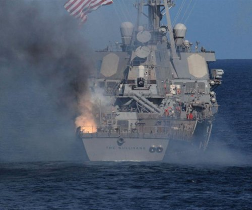 U.S. Navy destroyer damaged during missile test off Virginia coast