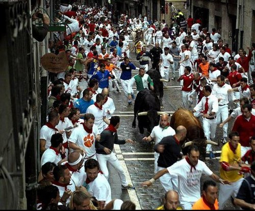 U.S. participant gored during Pamplona, Spain, bull run