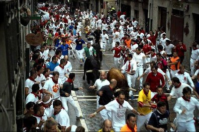 U.S. participant gored during Pamplona, Spain, bull run