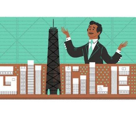 Google celebrates Fazlur Rahman Khan's 88th birthday with a doodle