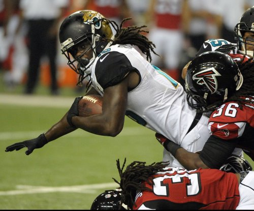 Free agent RB Denard Robinson working out for New York Jets